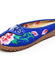 Oxfordské-Plátno-Pohodlné Novinky S páskem vyšívané boty-Dámské--Outdoor Kancelář Šaty Běžné Atletika-Plochá podrážka