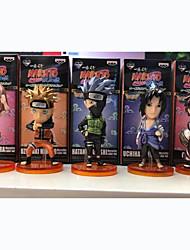Anime Action Figures Inspired by Naruto Naruto Uzumaki PVC 5 CM Model Toys Doll Toy 1set