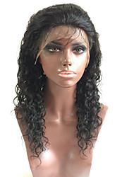 아기 머리를 가진 여성을위한 100 % 브라질 인간의 처녀 머리 레이스 가발 전체 레이스 자연 느슨한 웨이브 gueless 전체 레이스 가발