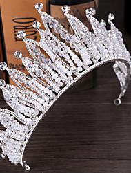 Bergkristal Licht Metaal Helm-Bruiloft Tiara's