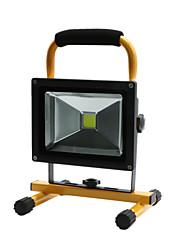 Hkv® 1pcs 20w 1850-1950lm 6000-6500k luz branca fria luz de inundação chargeable carregável luzes de emergência levou o projector (ac