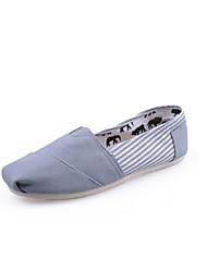 Dame-Lerret-Flat hæl-Komfort-一脚蹬鞋、懒人鞋-Friluft Fritid-