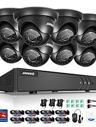 Annke® 8ch 8pcs 1080p 2.0m dvr 720p hd hdmi vodotěsný monitor kamerový systém sledování ir noční vidění