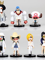 Anime Action Figures Inspired by One Piece Tony Tony Chopper PVC 9-5 CM Model Toys Doll Toy 7PCS