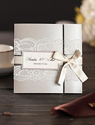 50x Elegant Silver Wedding Invitations Kits With RSVP Cards Customized Birthday and Bridal Shower Invitations With Envelope NK607