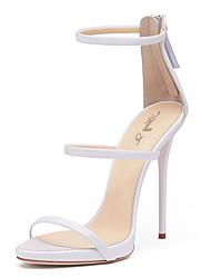 Femme-Mariage Bureau & Travail Habillé Soirée & Evénement--Talon Aiguille-Gladiateur club de Chaussures-Sandales-Polyuréthane
