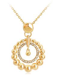 בגדי ריקוד נשים שרשראות תליון Geometric Shape אבן נוצצת סגסוגת אופנתי Euramerican תכשיטים ל חתונה אירוע מיוחד יום הולדת ארוסים יומי 1pc