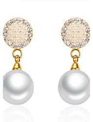 Hoop Earrings Movie Jewelry Euramerican Fashion Personalized Luxury Statement Jewelry Classic Pearl Stainless Steel Rhinestone Gold