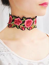 Dame Kort halskæde Krave Tørklæde Halskæder Smykker Blomstformet StofEnkelt design Blomster Boheme Stil Sød Stil Håndlavet Britisk