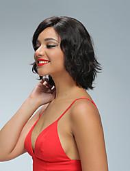Lyhyen Brasilian neitsyt hiuksista pitsi froht bob peruukit kanssa vauvan hiukset 8 '' - 10''bob hiusten luonnollisen hiusraja