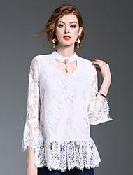 Camicia Da donna Per uscire Casual Romantico Primavera Estate,Con stampe Rotonda Poliestere Manica lunga Medio spessore