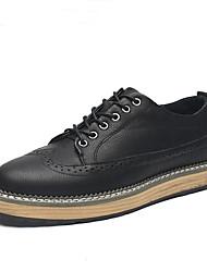 גברים-נעליים ללא שרוכים-מיקרופייבר-נוחות--יומיומי-עקב שטוח