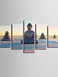 Paisagem Moderno,5 Painéis Tela Vertical Impressão artística Decoração de Parede For Decoração para casa