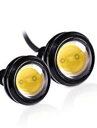 2pcs צבע לבן 18mm הוביל הנשר העין אור יום פועל drl גיבוי המכונית dc12v