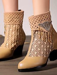 Bootsit-Leveä korko-Naiset-Nahka--Rento-Comfort
