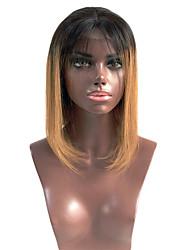 ombre T1b / 30 lyhyet Brasilian neitsyt hiukset bob peruukit täynnä pitsiä hiuksista peruukit suorat neitsyt hiukset bob pitsi peruukit