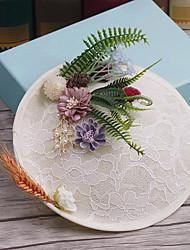 פשתן בד כיסוי ראש-חתונה אירוע מיוחד קז'ואל חוץ כובעים סיכת שיער חלק 1