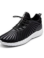 יוניסקס-נעלי אתלטיקה-טול PVC-נוחות סוליות מוארות--שטח יומיומי ספורט-עקב שטוח