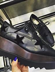 Sneakers feminino primavera conforto PU casual azul preto