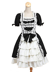 Maid Suits Classic/Traditional Lolita Cosplay Lolita Dress Solid Color Sleeveless Knee-length Skirt Apron For Padded Fabric