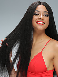Yaki Straight Full Lace Human Hair Wigs with Baby Hair Brazilian Virgin Human Hair 130 Density Cheap Full Lace Front Hair Wigs Natural Hairline