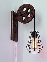 Industrial Retro Iron Wall Lamp Creative Personality Lift Pulley Wall Lamp