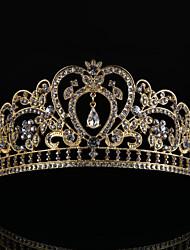 라인석 합금 투구-웨딩 왕관