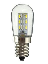 1W E11 LED-pallolamput 24 SMD 3014 50-99 lm Lämmin valkoinen Valkoinen Koristeltu AC110 AC220 V 1 kpl