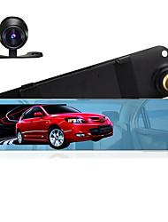 4.3 מראה מכונית dvr מצלמה כפולה תמיכה גיבוי מצלמות אחוריות fhd 1080p וידאו registrator מקליט חניה לפקח אוטומטי תיבת שחור