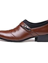 Men's Wedding Shoes Summer Fall Formal Shoes Comfort Wedding Office & Career Party & Evening Casual Flat Heel Chunky HeelBuckle Split