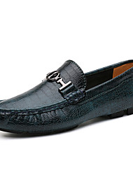 Unisex Loafers & Slip-Ons Spring Summer Fall Moccasin Nappa Leather Outdoor Party & Evening Dress Casual Blue