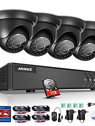 Annke® 8ch 1080n dvr 720p hd kamerový bezpečnostní systém sledování vodotěsný monitor p2p 1tb