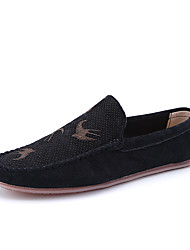 Men's Loafers & Slip-Ons Spring Fall Moccasin Comfort PU Casual Gray Beige Black Walking