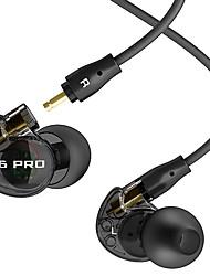 Casque monophasé m6-pro audio moniteur avec oreillettes microphone