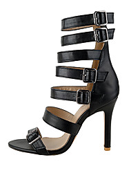 Women's Sandals Spring Summer Fall Club Shoes Gladiator Leatherette Wedding Party & Evening Dress Stiletto Heel Buckle Zipper