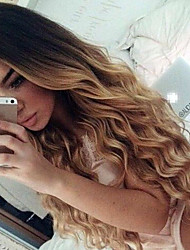 Ombre T1B/4/27 Lace Front Human Hair Wigs Loose Wave 150% Density Brazilian Virgin Hair Glueless Lace Wigs for Woman