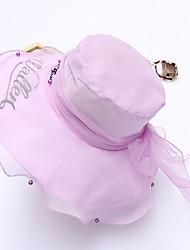 Women's Polyester Mesh Bucket Hat Sun Hat,Cute Casual Spring Summer