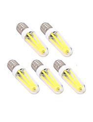4W E14 G9 Lâmpadas de Filamento de LED T 300 lm Branco Quente Branco Frio Regulável AC 220-240 V 5 pçs