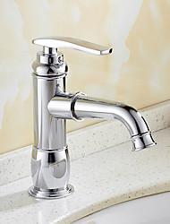 Contemporary Creative Fashion Style Brass Chrome Bathroom Sink Faucet