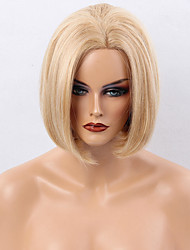 편안 보보 층 스트레이트 레이스 앞 머리카락 매력적인 여자 머리