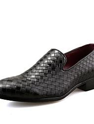 Oxfords-Kunstlæder-Formelle sko-Herrer--Bryllup Fritid Fest/aften-Flad hæl