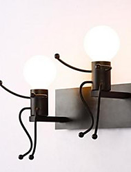 American Country Iron Wall Lamp Creative Bedroom Bedside Wall Lamp Warm Aisle Villain Wall Lamp