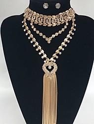 בגדי ריקוד נשים שרשראות מחרוזת Y-שרשראות Heart Shape אבן נוצצת סגסוגת עיצוב בייסיק Euramerican תכשיטים ל חתונה Party אירוע מיוחד ארוסים