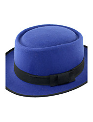 Men's Holiday Bristles Stitching Color Flat Top Bow Jazz Hat