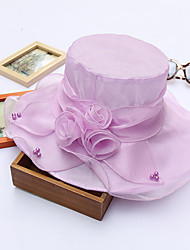 Women's Handmade Artificial Flower  Floral Summer Or Spring Simple Sun Bucket Hats Caps