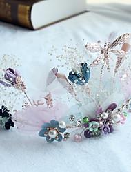 טול סגסוגת בד כיסוי ראש-חתונה אירוע מיוחד קז'ואל חוץ זרי פרחים חלק 1