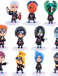 Anime Toimintahahmot Innoittamana Naruto Sasuke Uchiha PVC 7.5*7*6.5 CM Malli lelut Doll Toy