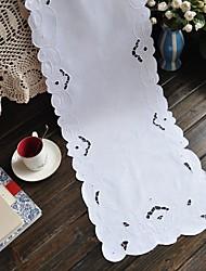 obdélníkový Vyšívané stolní ubrus , 100% bavlna MateriálSvatební Party Dekorace Svatební hostiny Večeře Vánoční výzdoba Favor Tabulka
