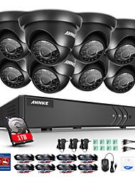Annke ® 8ch 8pcs 720p hd מצלמת וידאו 4in1 dvr מערכת מעקב cctv הביתה עם p2p ir לילה 1tb