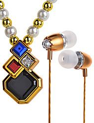 אופנה תליון שרשרת האוזניות